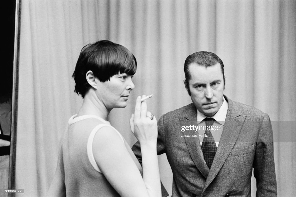 French painter Bernard Buffet and his wife, writer Annabel Buffet (born Schwob).
