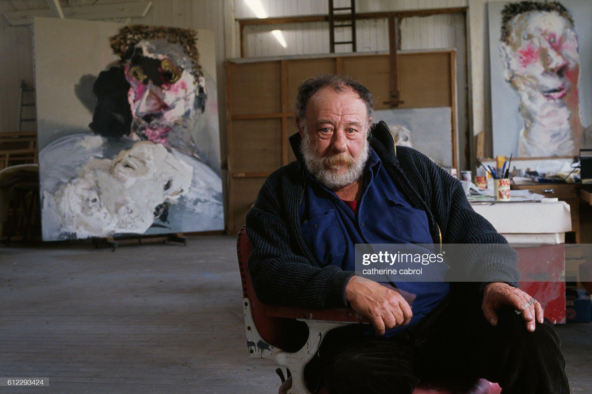 French Painter Paul Rebeyrolle : Nachrichtenfoto