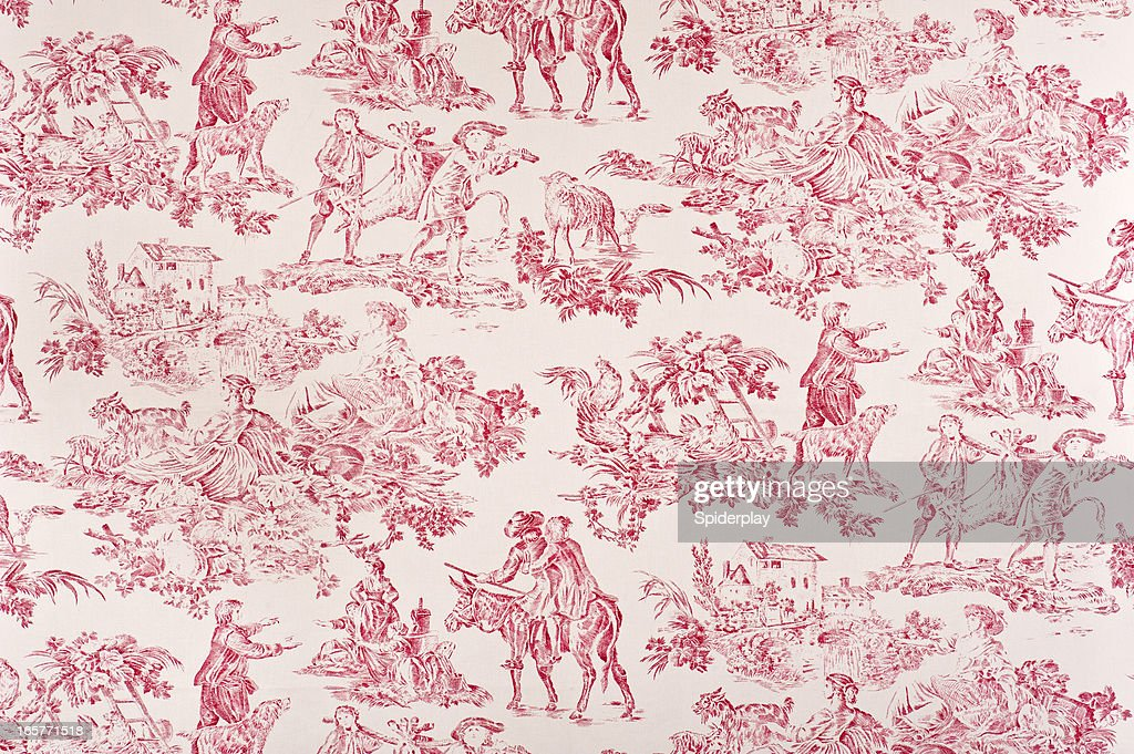Toile Francaise Antique Fabric : Stock Photo