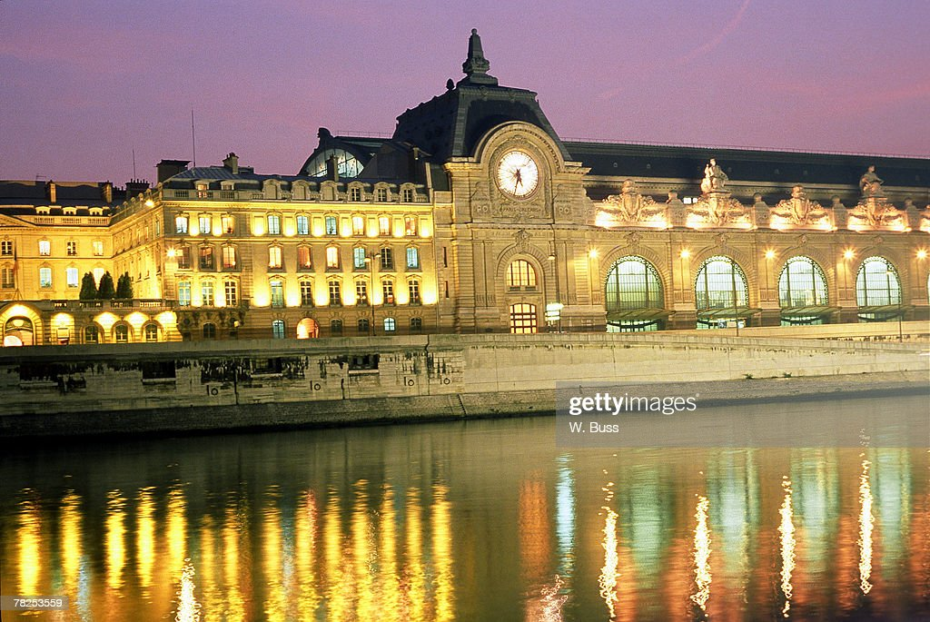 French palace by river , Paris , France : Photo