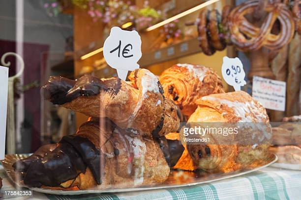 French, Pastries in bakery display