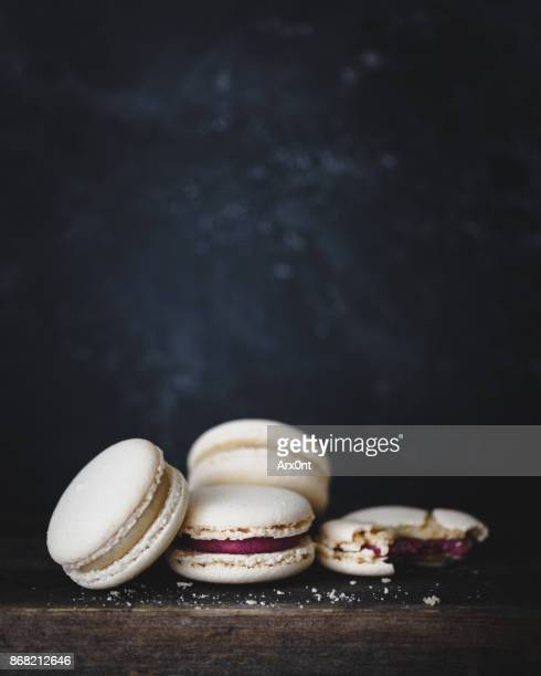 french pastry macarons or macaroon - macarons stock photos and pictures