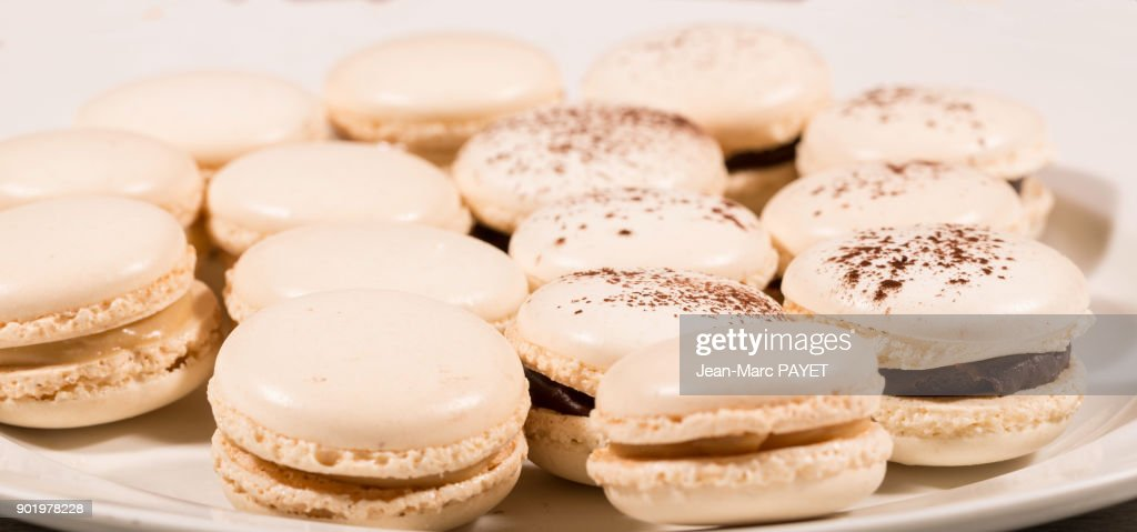 French pastry made home : Macaroon : Stock Photo