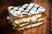 French Pastry Mille-Feuille Sweet Dessert