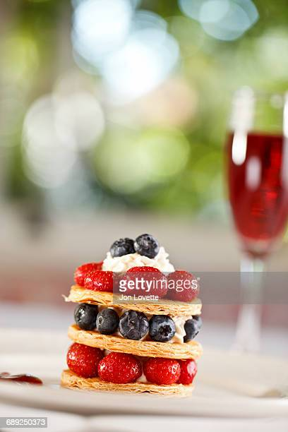 French Pastry with fresh berries