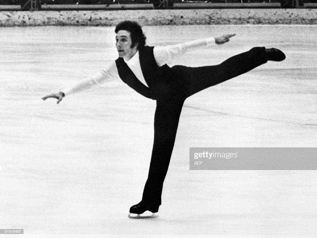 French Patrick Pera performs 11 February 1972 during the figure skating event of the Winter Olympic games in Sapporo, and takes the bronze medal. Czech Ondrej Nepela wins the gold and Tchetveroukhin of Soviet Union takes the silver