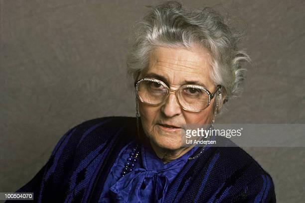 PARIS FRANCE OCTOBER 24 French pedo psychiatrist Francoise Dolto during portrait session held on october 24 1988