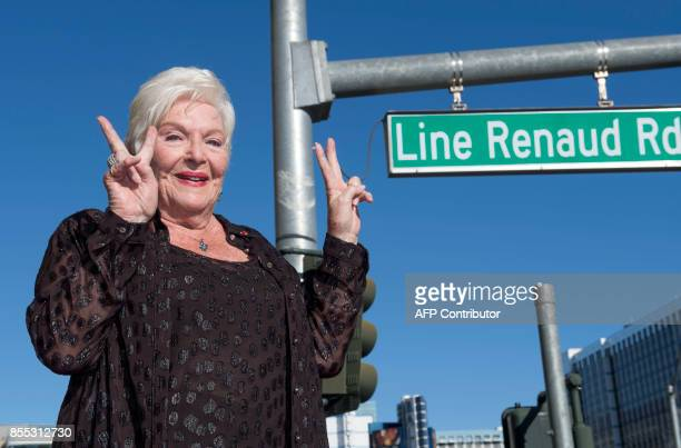 French Performer Line Renaud attends the ceremony honoring her with a street on her name on September 28 in Las Vegas Nevada The French singer and...