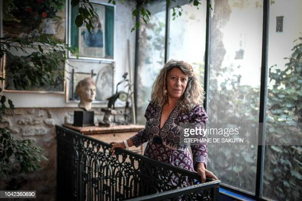 French philosopher Barbara Cassin poses during a photo session on September 27 at her home in Paris The French National Centre for Scientific...