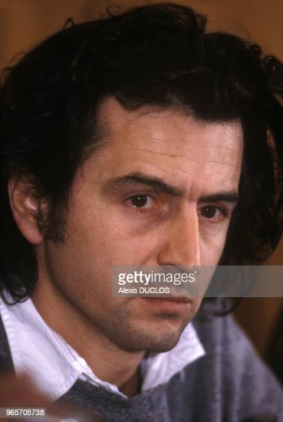 French Philosopher Bernard Henri Levy at Conference On Ethiopia Paris October 29 1986