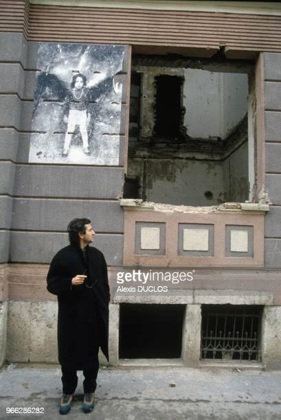 French Philosopher Bernard Henri Levy In Sarajevo December 28 1993
