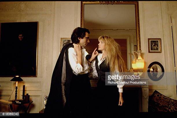 French philosopher BernardHenri Levy and FrenchAmerican actress and singer Arielle Dombasle