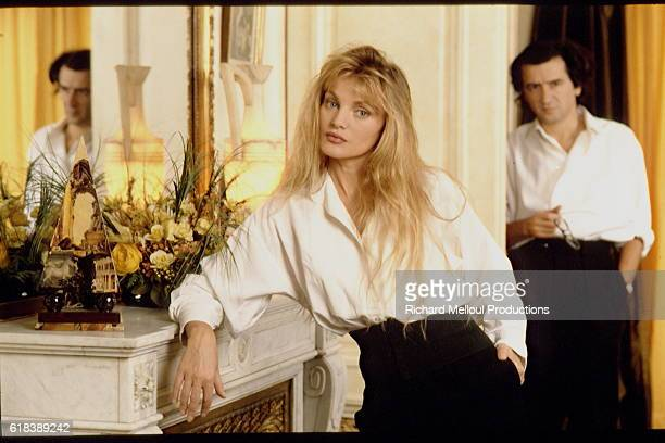 French philosopher Bernard-Henri Levy and French-American actress and singer Arielle Dombasle.