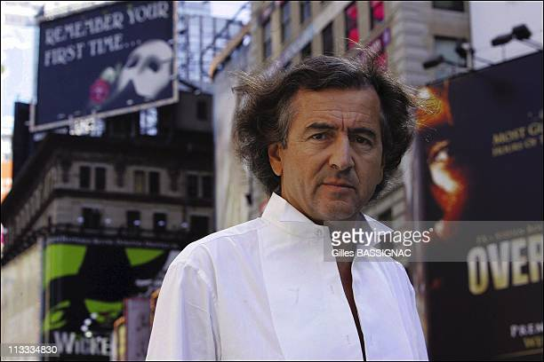 French Philosopher BernardHenri Levy In The Footsteps Of Alexis De Tocqueville On September 2005 In New York United States Here CloseUp Of French...