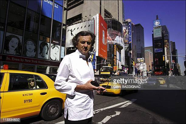 French Philosopher BernardHenri Levy In The Footsteps Of Alexis De Tocqueville On September 2005 In New York United States Here French Philosopher...