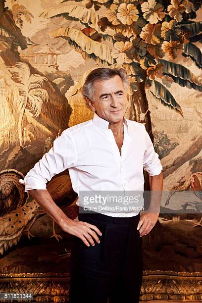 French philosopher BernardHenri Levy is photographed for Paris Match on February 9 2016 in Paris France