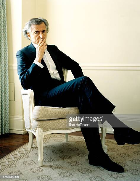 French philosopher BernardHenri Levy is photographed for Wall Street Journal on January 13 2011 in New York City