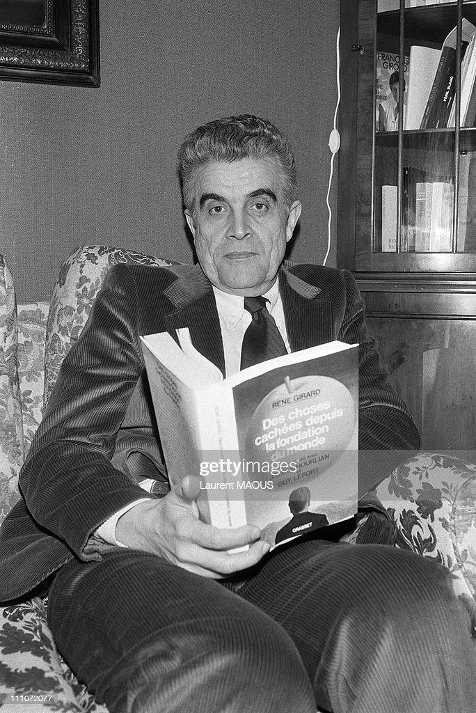 Rene Girard In Paris, France On February 14, 1979. : ニュース写真