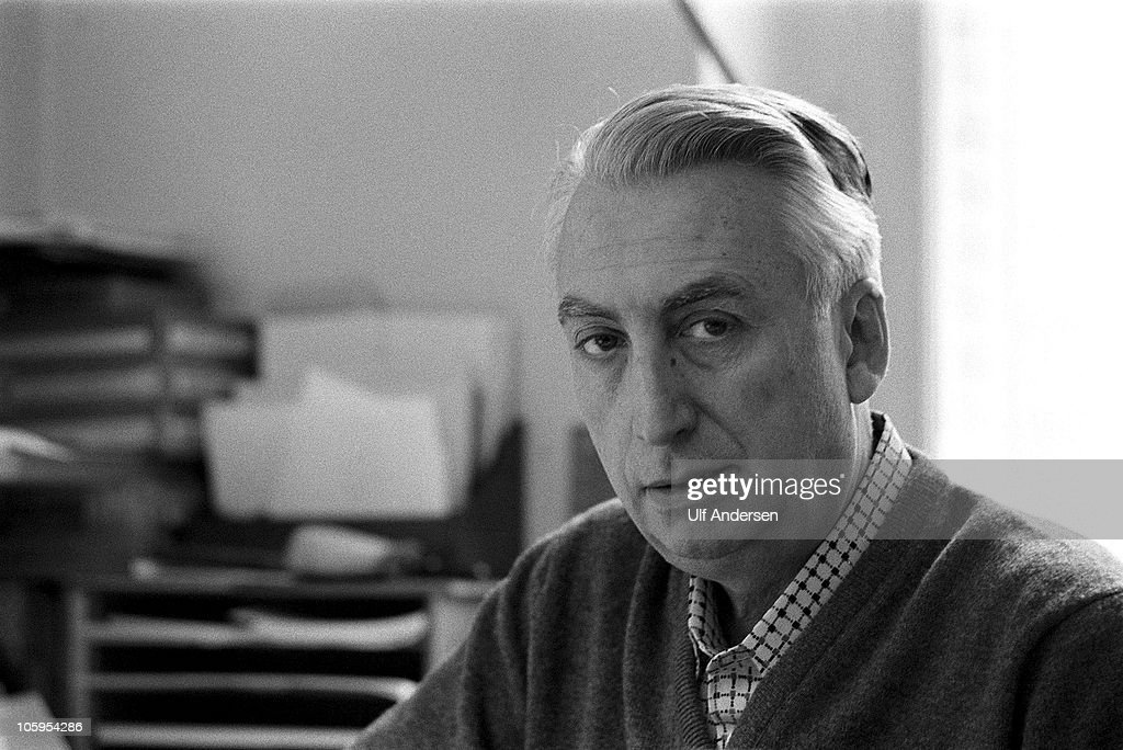 PARIS, FRANCE - JANUARY 25. French philosopher Roland Barthes poses during a portrait session held on January 25, 1979 in Paris, France.