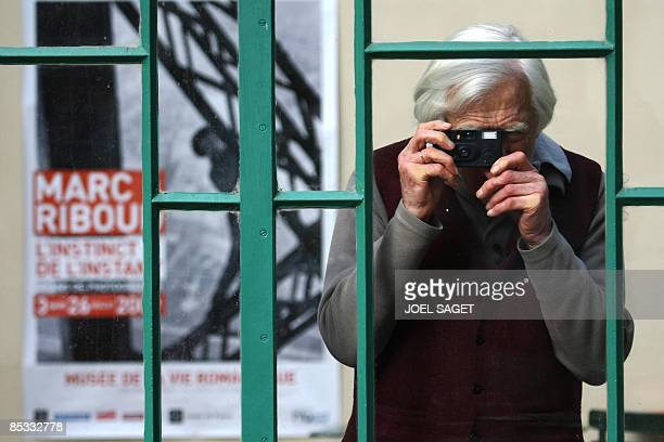 French photographer and reporter Marc Riboud poses at the Musee de la vie romantique/Musee Renan-Scheffer on March 10, 2009 for the inauguration of...