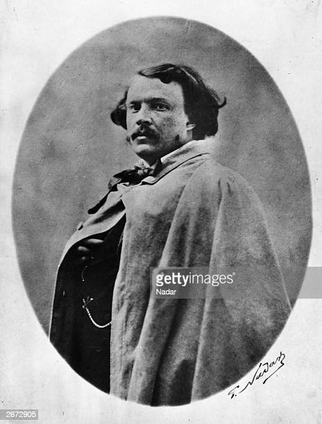 French photographer 'Nadar' also known as Gaspard Felix Tournachon poses for a photograph taken by himself