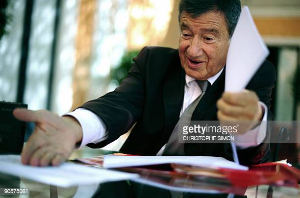 French physician Etienne Baulieu Abort RU486 inventor answers question of Agence France Presse journalist on September 10 2009 in Rome Baulieu made...