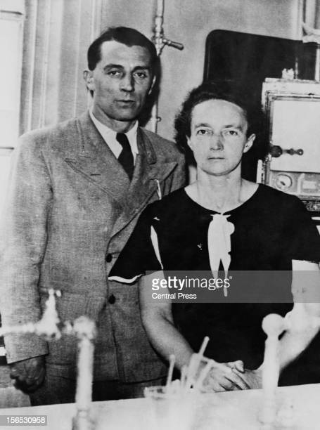 French physicist Frederic JoliotCurie with his wife French chemist Irene JoliotCurie circa 1940 In 1935 the couple were jointly awarded the Nobel...