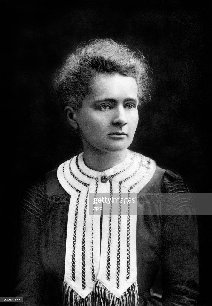 french physicist Marie Curie (1867-1934) physics Nobel prize in 1903, chemistry Nobel prize in1911, photo by Eugene Pirou, 1903 : Fotografía de noticias