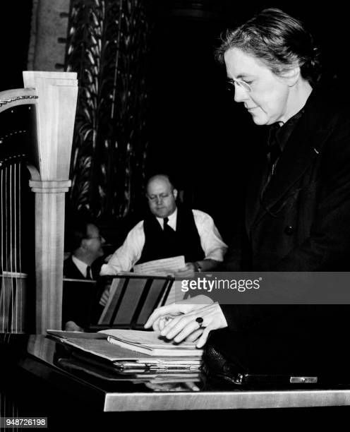 French pianist composer and conductor Nadia Boulanger is seen at the Philadelphia Orchestra on October 3 1939