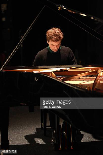 French Pianist David Kadouch rehearses before a solo piano recital works by composers Bach Janacek Schumann and Bartok during the second 'It's All...