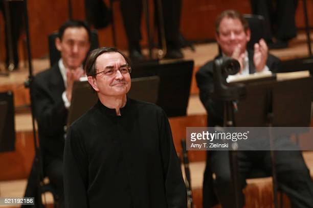 French pianist Pierre-Laurent Aimard receives the audience after performing composer Olivier Messiaen's 'Couleurs de la cite celeste' on the piano as...