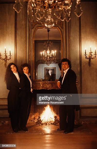 French pianists Marielle and her sister Katia Labèque and Russian conductor Semyon Bychkov