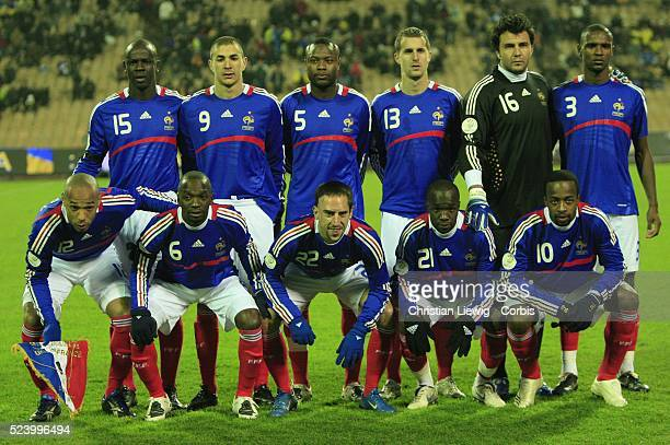 French players before the UEFA EURO 2OO8 qualifying soccer match between Ukraine and France