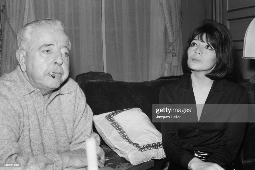 French poet, screenwriter, and lyricist Jacques Prevert and singer and actress Juliette Greco.