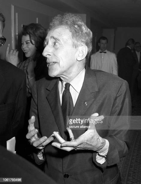 French poet writer and painter Jean Cocteau died in Paris on 11 October 1963 at the age of 74 The picture shows Jean Cocteau gesticulating during a...