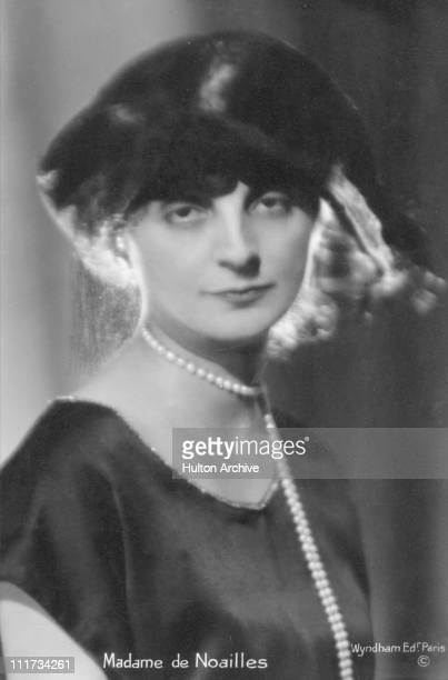 French poetess Anna Comtesse de Noailles circa 1920