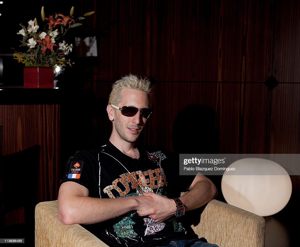 French poker player Bertrand 'Elky' Grospellier poses for a portrait after winning the EPT Madrid High Roller at the European Poker Tour 2011 in the Casino Gran Madrid on May 7, 2011 in Torrelodones, Spain.