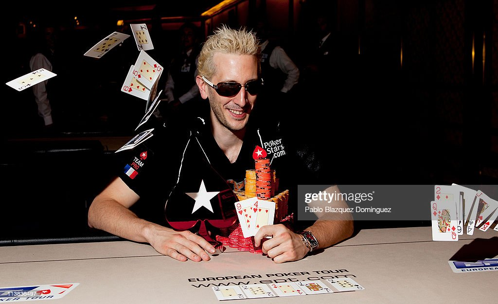 French poker player Bertrand 'Elky' Grospellier wins the EPT Madrid High Roller at the European Poker Tour 2011 in the Casino Gran Madrid on May 7, 2011 in Torrelodones, Spain.