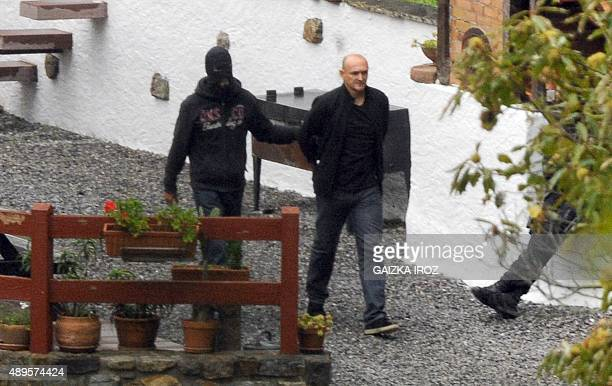 French police arrest Ramuntxo Sagarzazu at the holiday cottage of Orerreka between SaintEtiennedeBaigorry and Banca south western France on September...