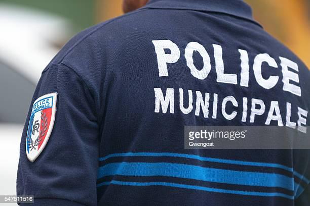 officier de police français - police photos et images de collection