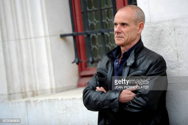 French policeman Gilles Guillotin former second chief of the Grenoble Criminal Investigation Department poses on April 13 2016 in Grenobles ahead of...