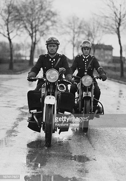 French Policemen By Motorcycle