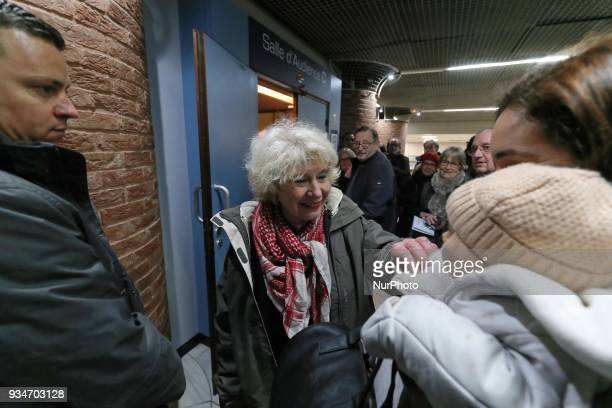 French political activist Olivia Zemor waits in the court of Versailles near Paris on March 19 2018 Zemor is the cofounder and leader of CAPJO the...