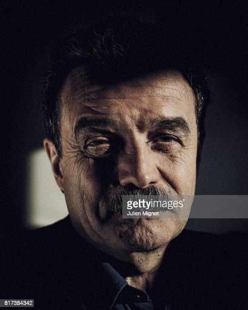 French political journalist Edwy Plenel is photographed for Liberation on January 26 in Mediapart office Paris France