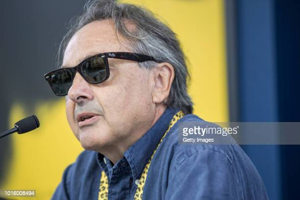 French Political Scientist Gilles Kepel speaks at the Documentary Summer School press conference during the 71st Locarno Film Festival on August 7...