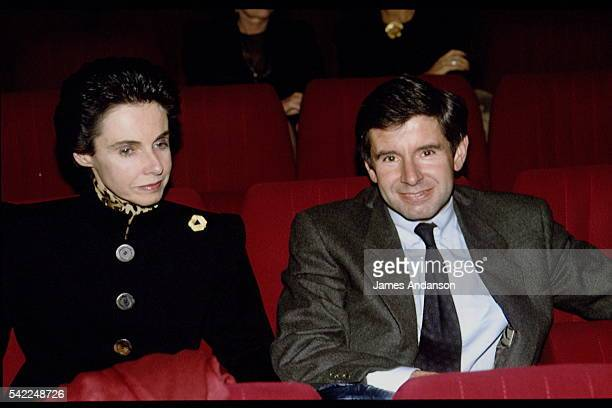 French politician Alain Minc with his wife attend the premiere of the Play Le Jugement dernier written by philosopher BernardHenri Lévy