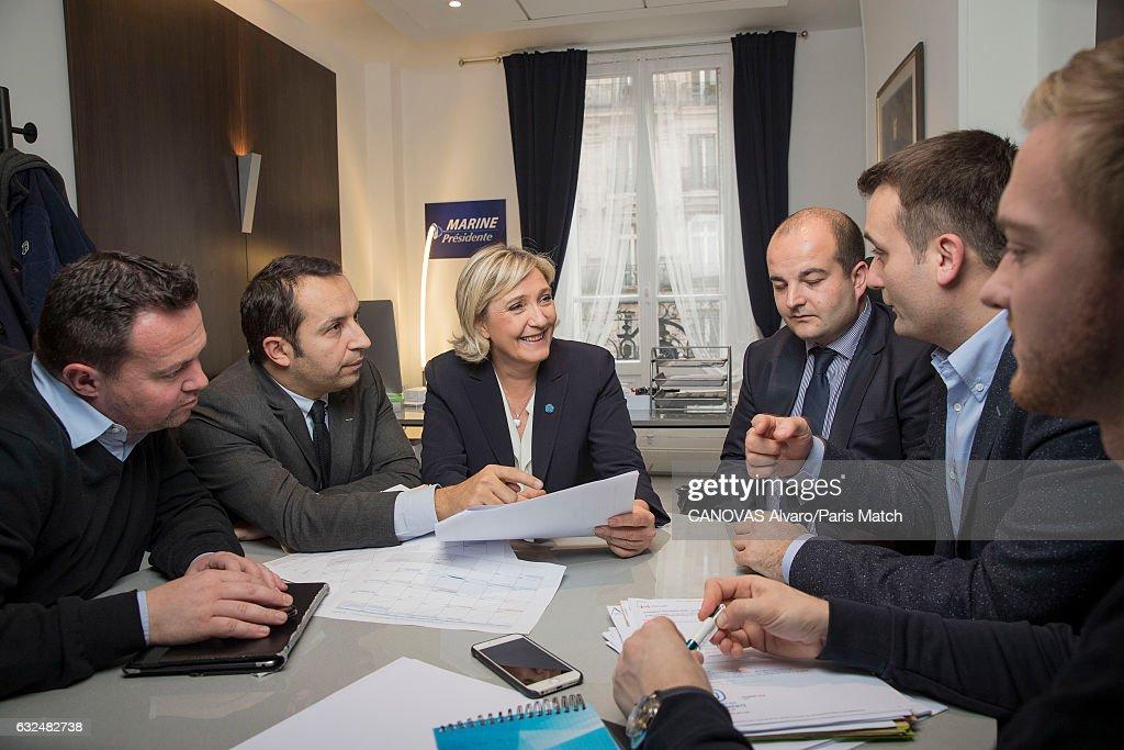 Marine Le Pen, Paris Match Issue 3531, January 25, 2017