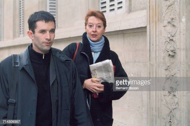 French politician Benoït Hamon arrives at the National Council of the Socialist Party He later became the Socialist candidate in the 2017 French...