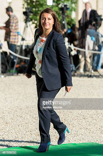 French politician Cecile Duflot arrives to the Conference prior the World Climate Summit at Elysee Palace on September 10 2015 in Paris France The...