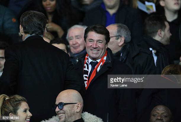 French politician Christian Estrosi attends the French Ligue 1 match between Paris SaintGermain and OGC Nice at Parc des Princes on december 11 2016...